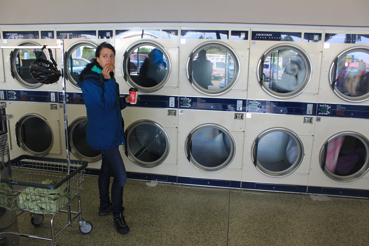Unser erster Laundry - Besuch in Lincoln City