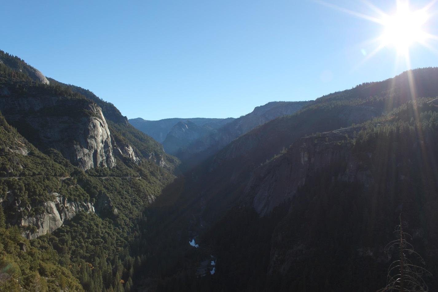 Der Weg hinaus aus dem Yosemite Valley.