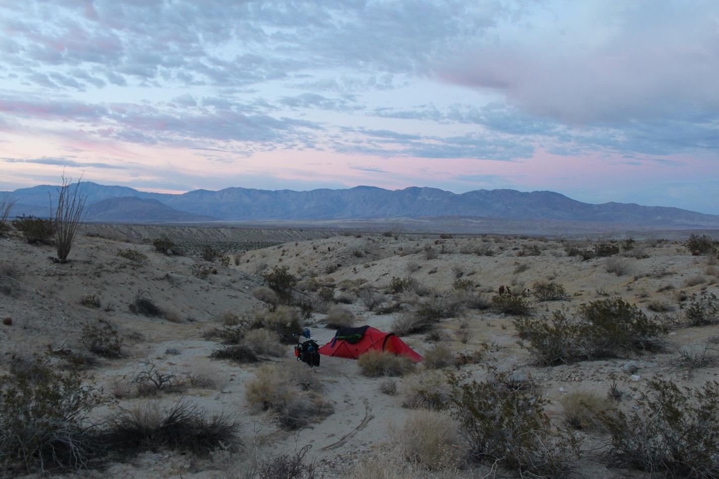 Unser Nachtlager im Anza Borego Desert State Park.