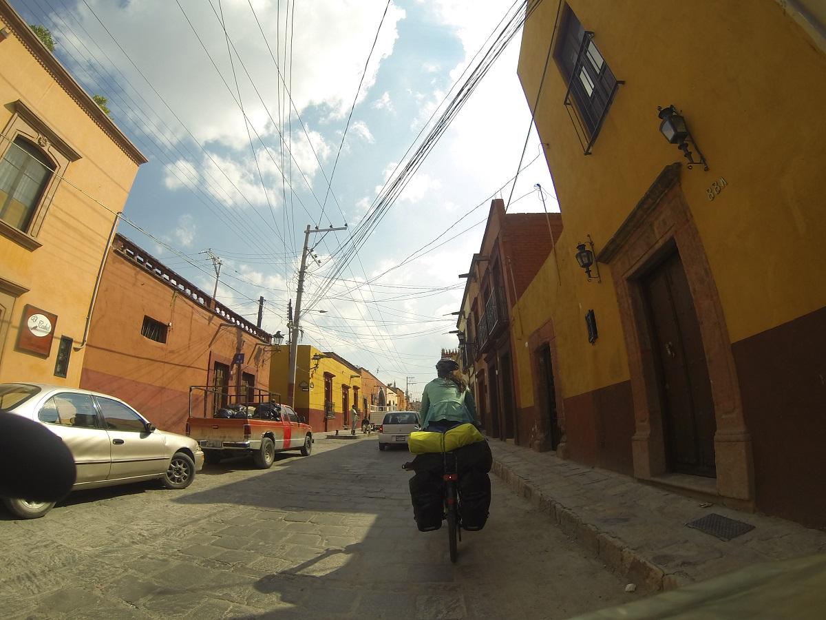 Auf der Suche nach einer Unterkunft in San Miguel.