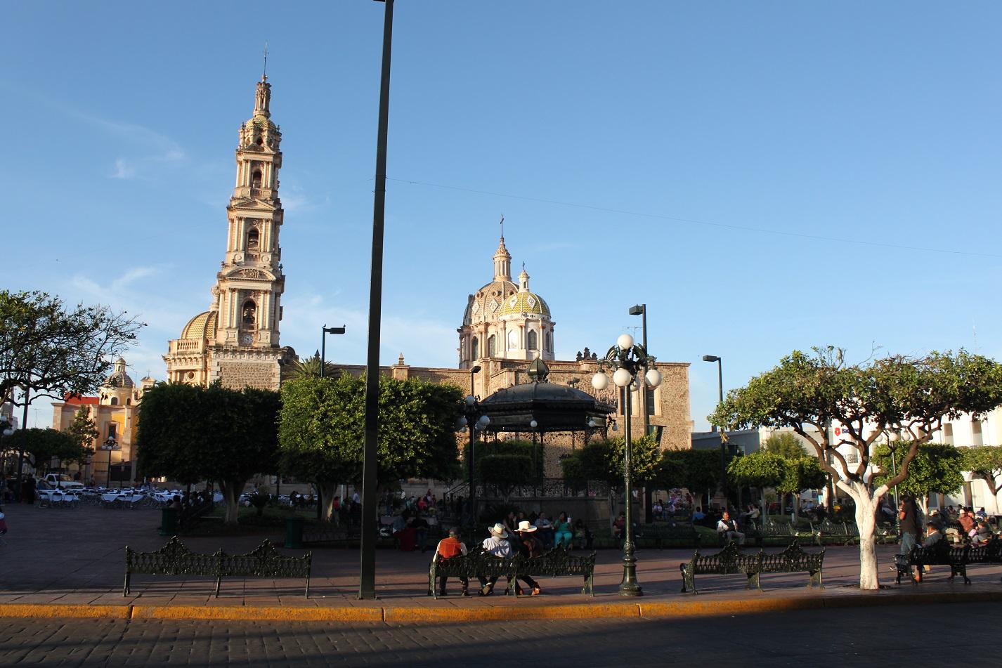 Zocalo und Kirche von Tepatitlan