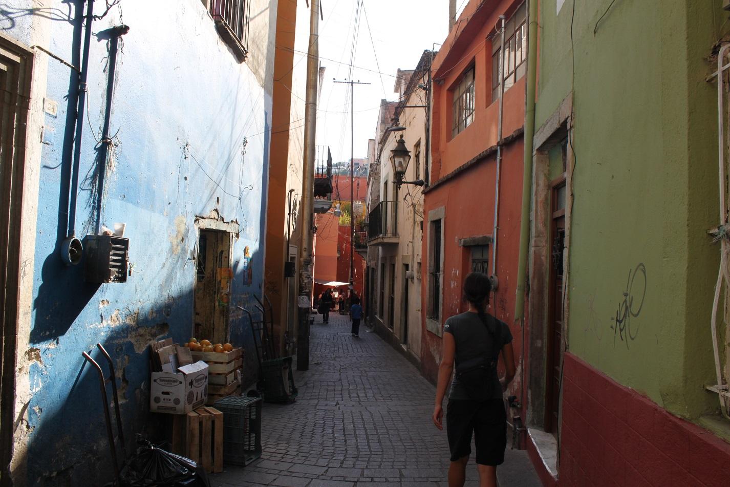 In Guanajuato führten uns  oftmals kleine Gässchen zu unserem Ziel.