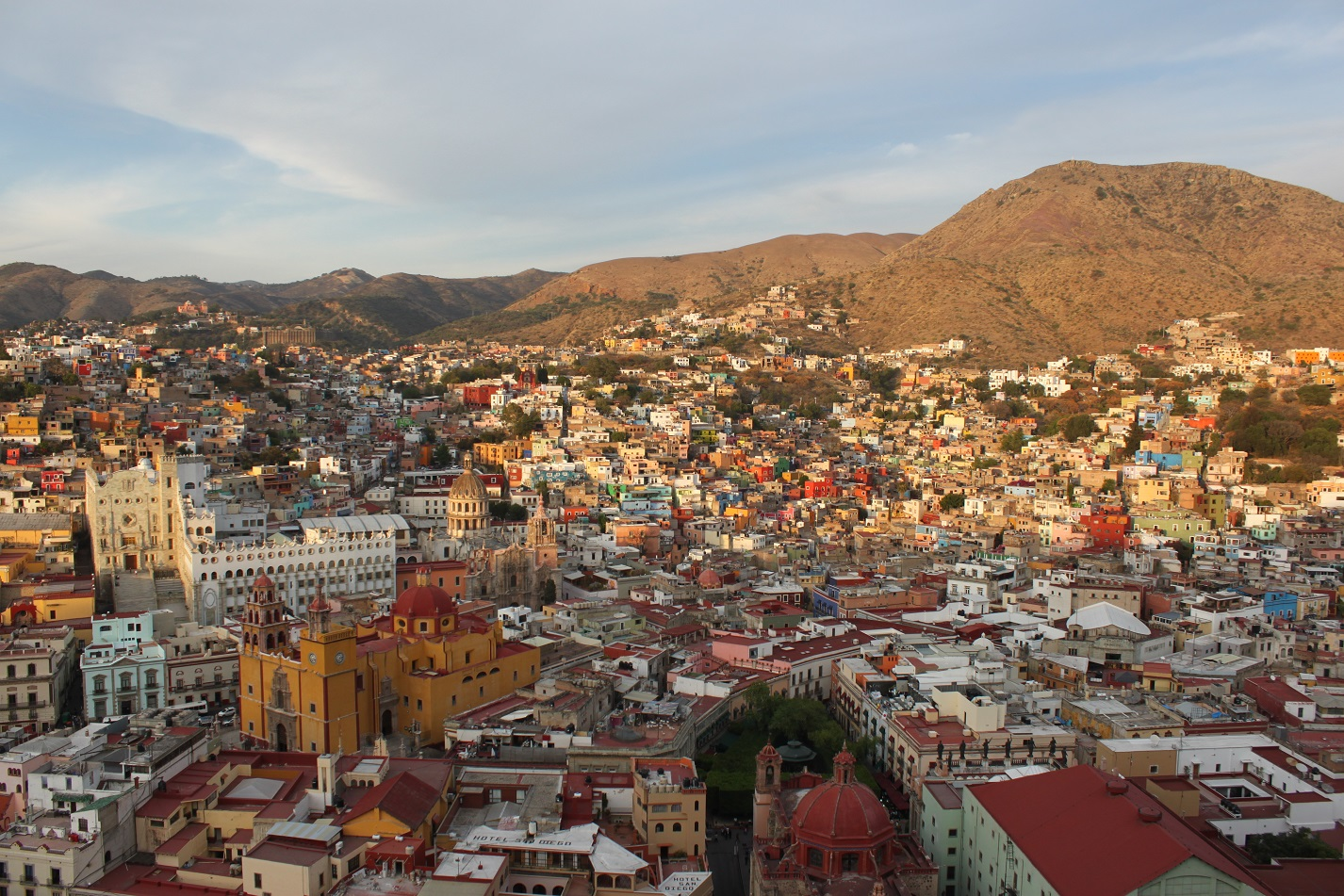 Blick auf Guanajuato