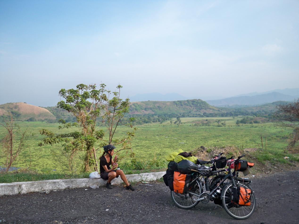 Mit dieser letzten Pause bei einem grandiosem Ausblick haben wir uns von Guatemala verabschiedet.