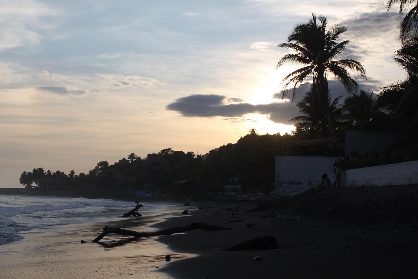 Sonnenuntergang in El Tunco.