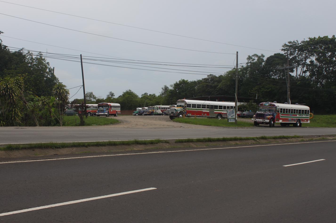 Auch hier in Panama ist der ausgemusterte amerikanische Schulbus wieder DAS Massentransportmittel