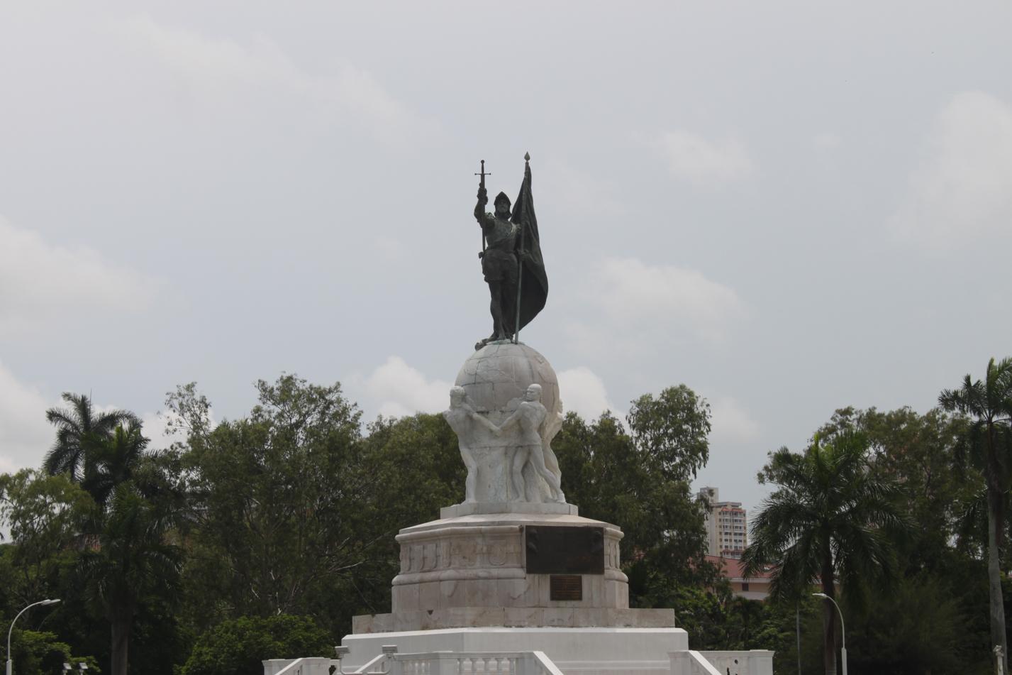 Denkmal an die spanischen Eroberer.