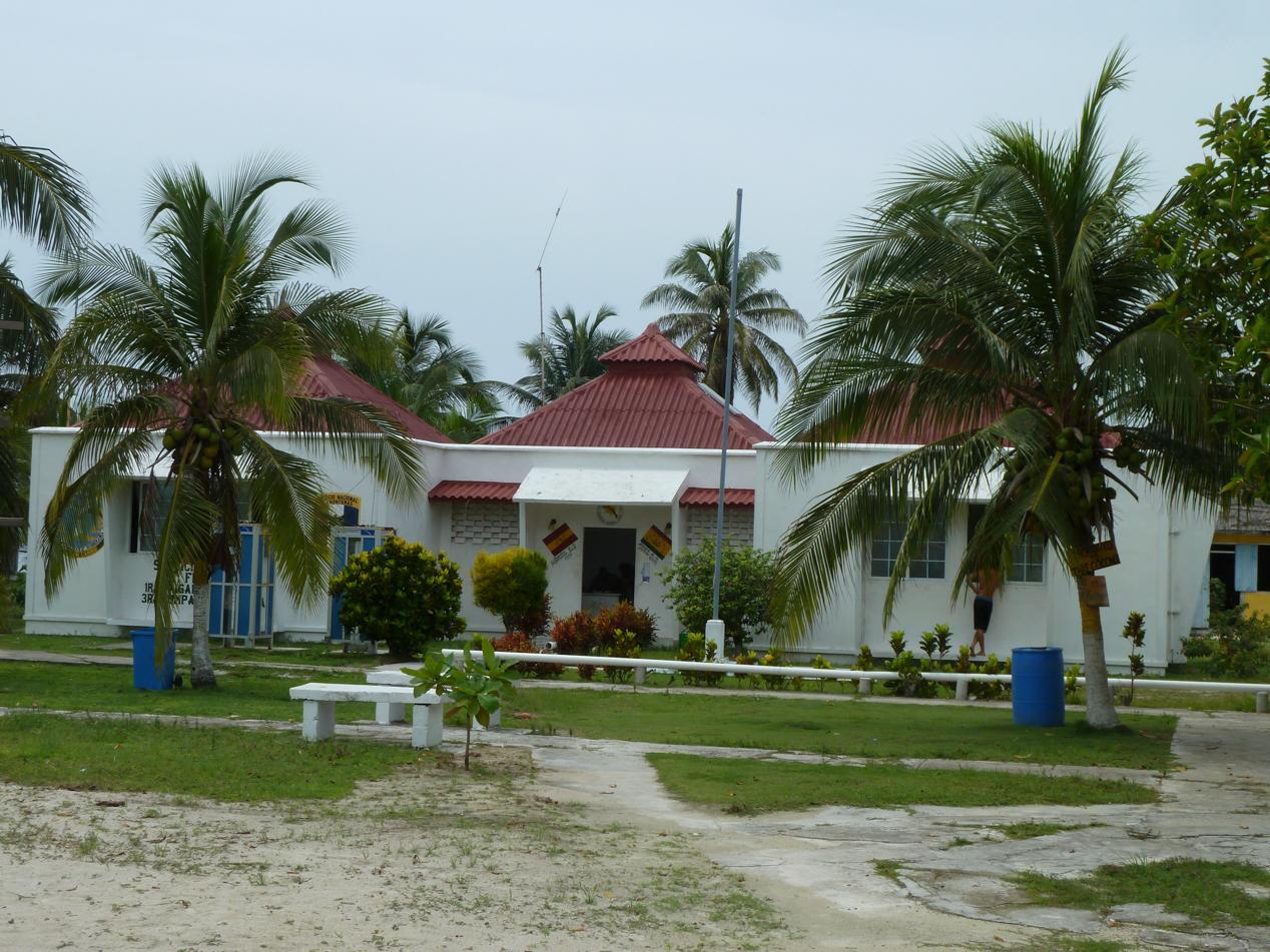 Der Grenzstützpunkt der Regierung von Panama auf El Porvenir.