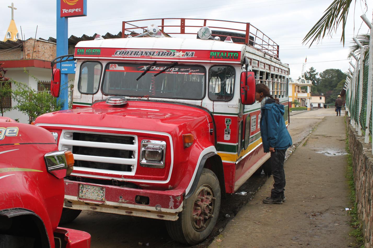 Diese Busse sind die wichtigsten Transportmittel der Region.