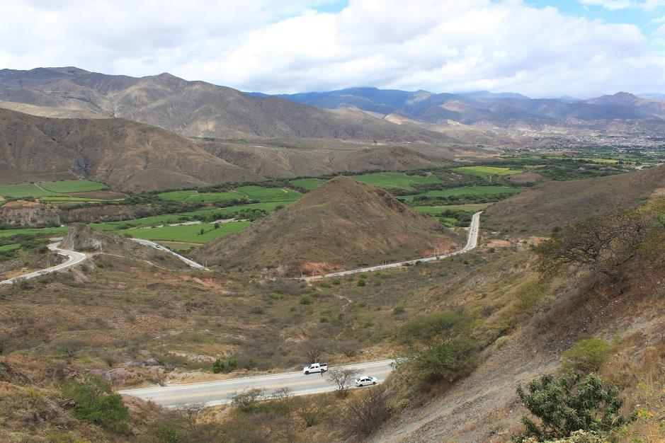 In dem Tal von Catamayo wird dank viel Wasser und Sonne, Zuckerrohr angebaut.