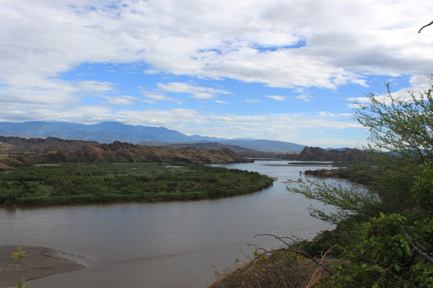 Blick auf den Rio Magdalena.