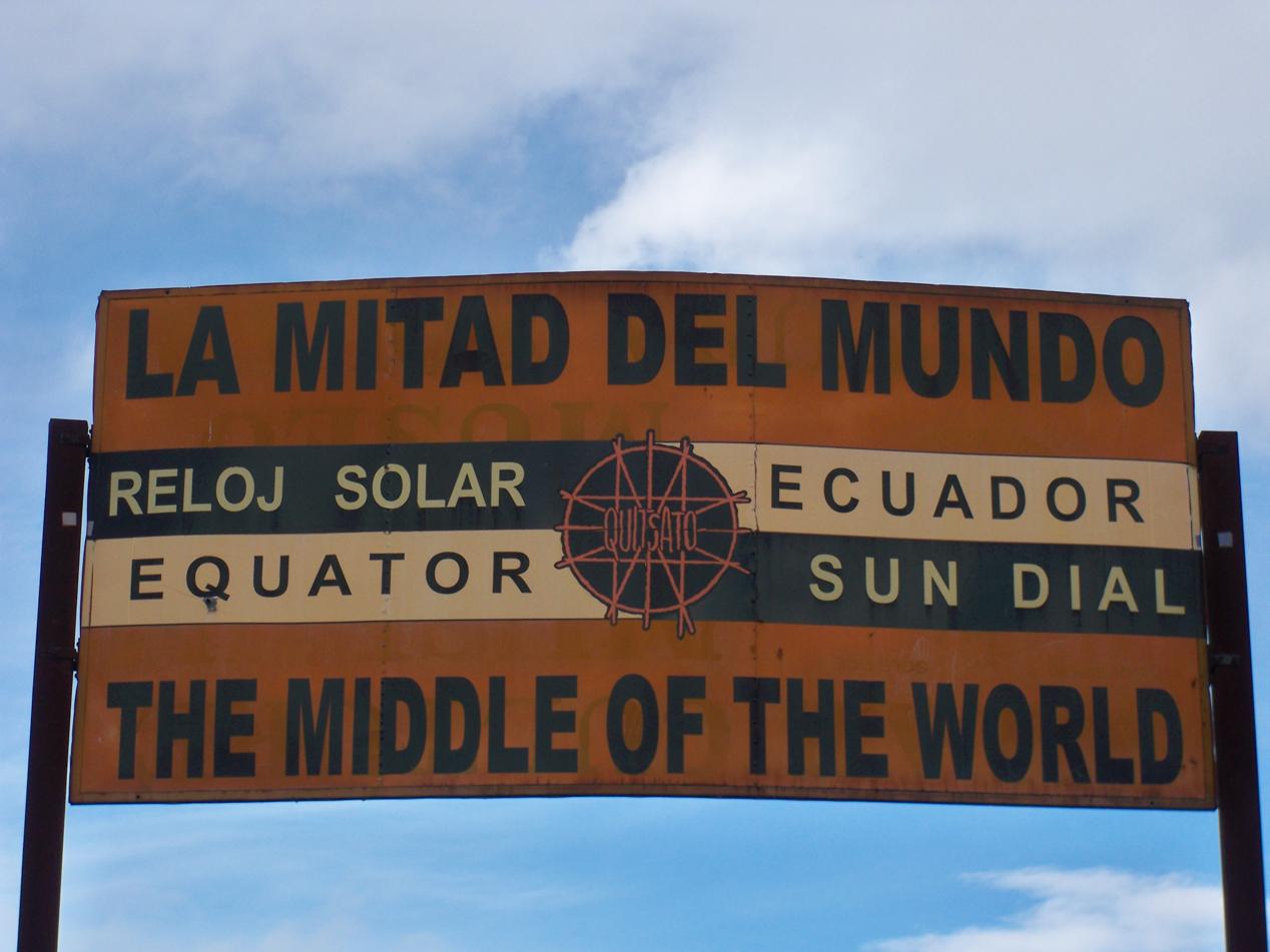 Die Mitte der Welt, da sind wir.