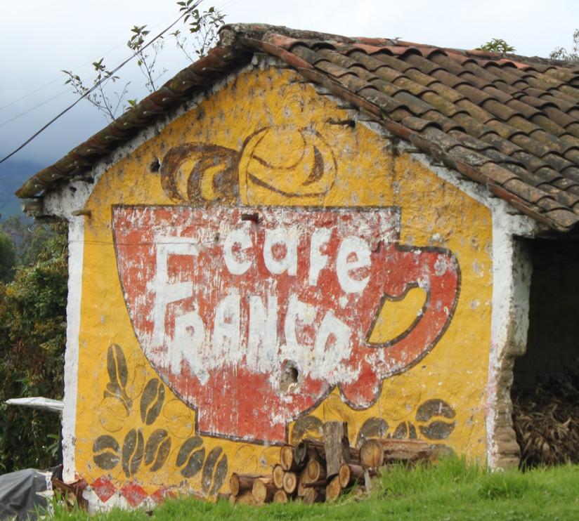 In Kolumbien gibt es eher Café als Wasser zu kaufen.