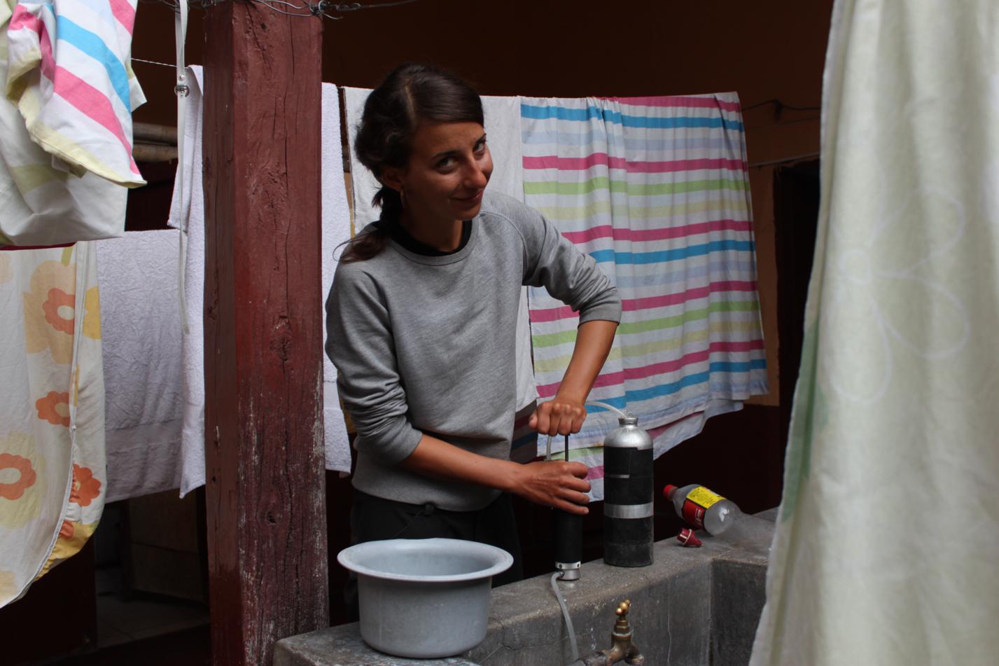 Wasser filtern ist eine unserer täglichen Aufgaben.