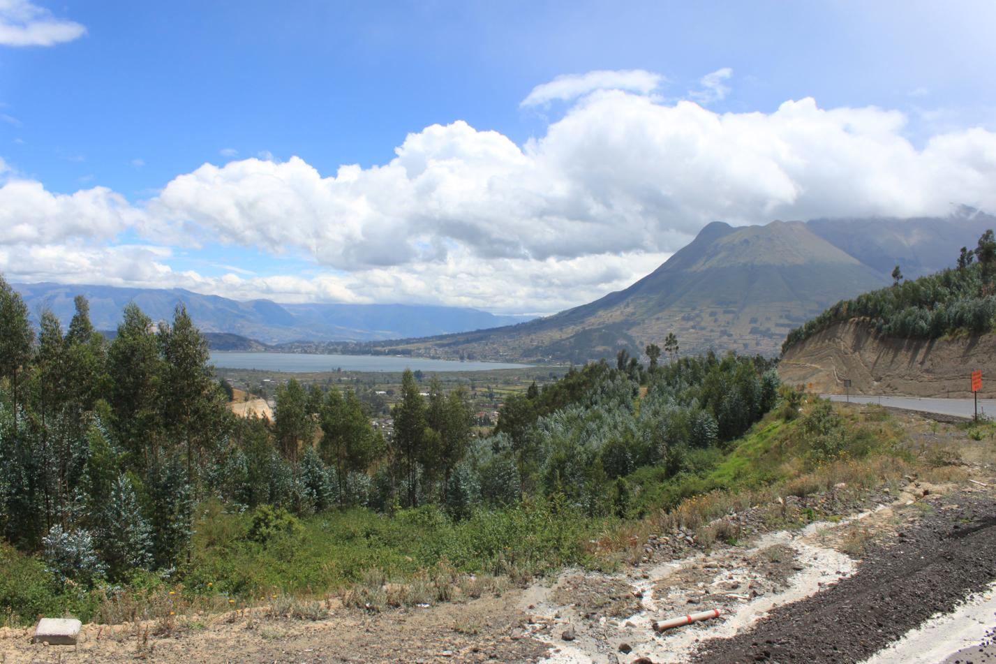 Blick zurück auf die Laguna San Pablo