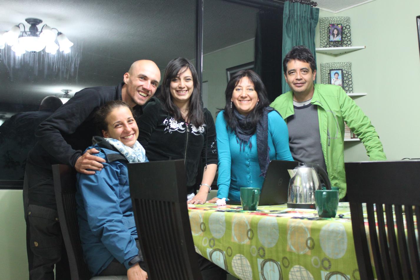 Danke an Javier und Familie für die Übernachtung, das tolle Essen und die tollen Gespräche! Muchas gracias para todos amigos!