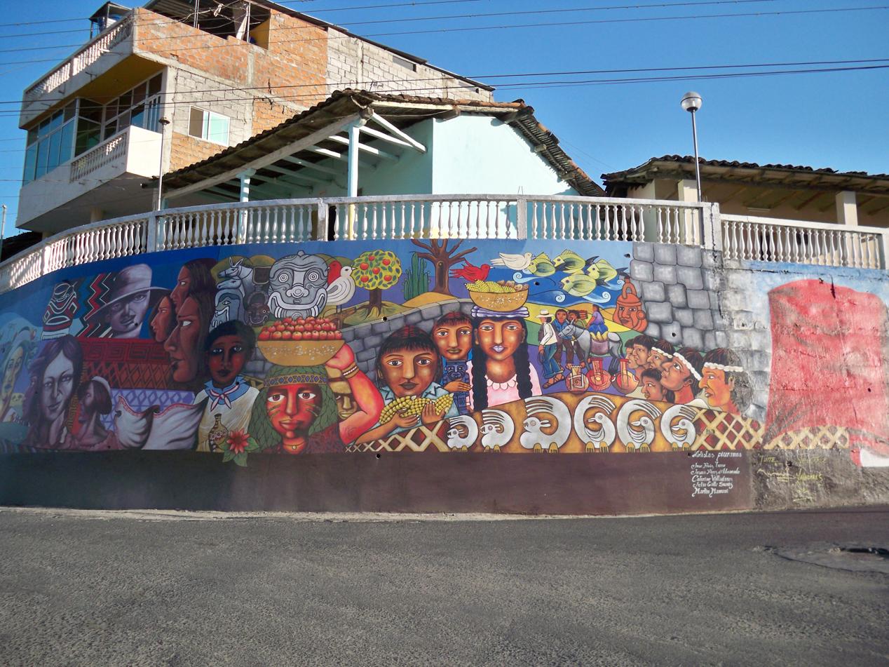 Mural in den Gassen von Macara.