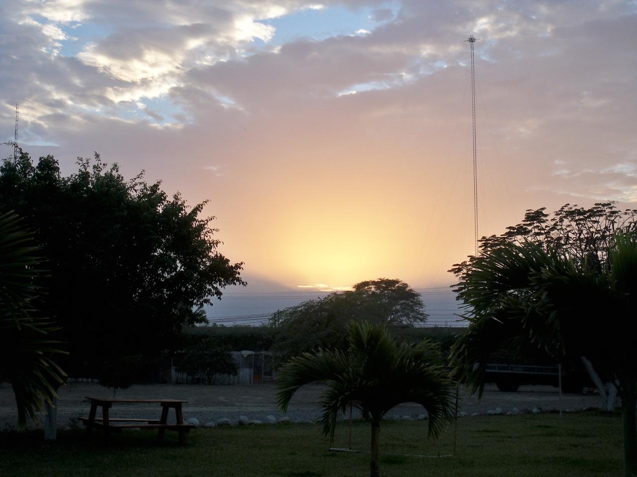 Sonnenaufgang in Tambogrande.