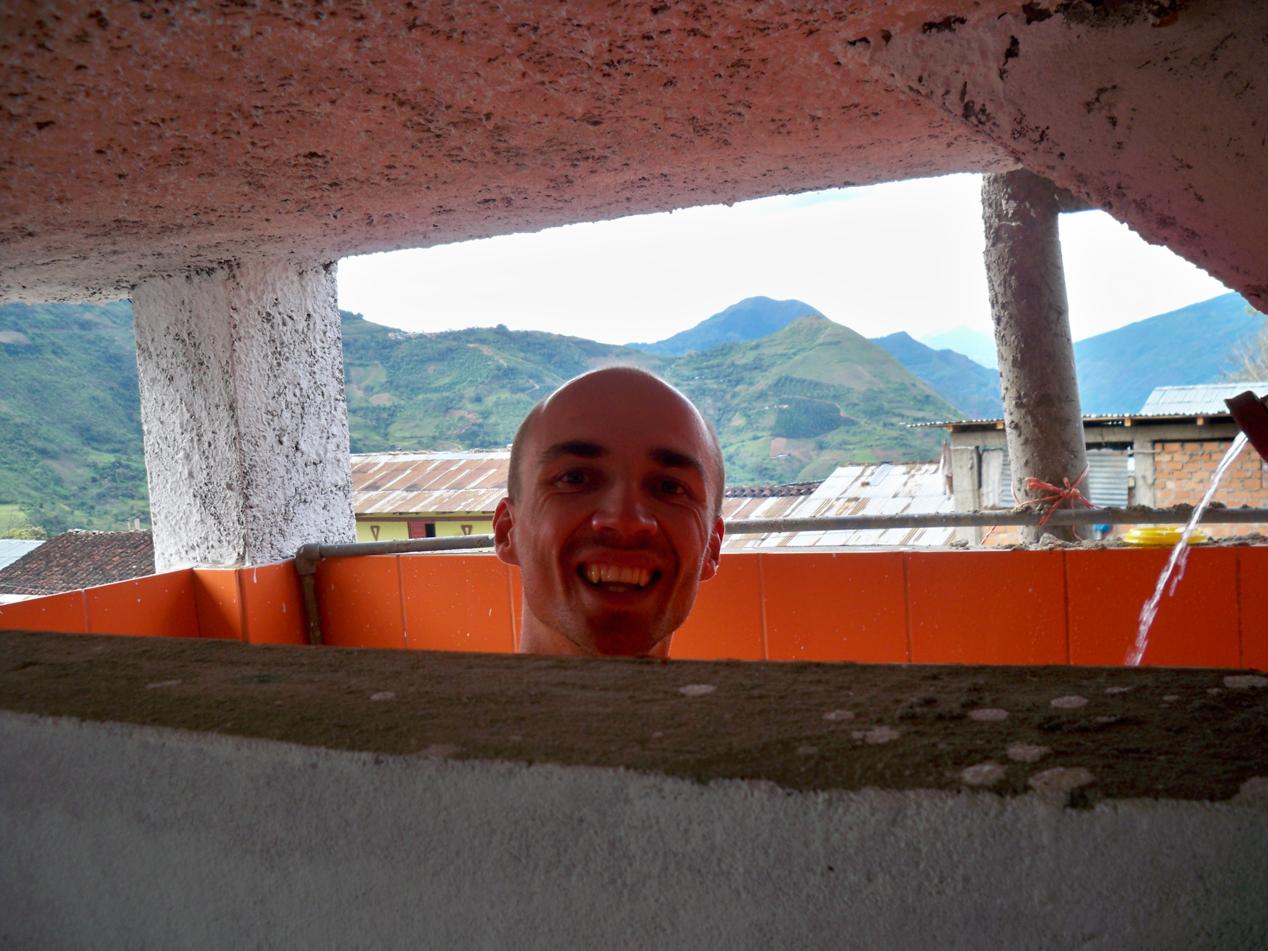 Bäder sind in Peru sehr luftig gebaut. Von diesem hatte man selbst beim Duschen einen super Ausblick. Nur leider war das Wasser Eiskalt.