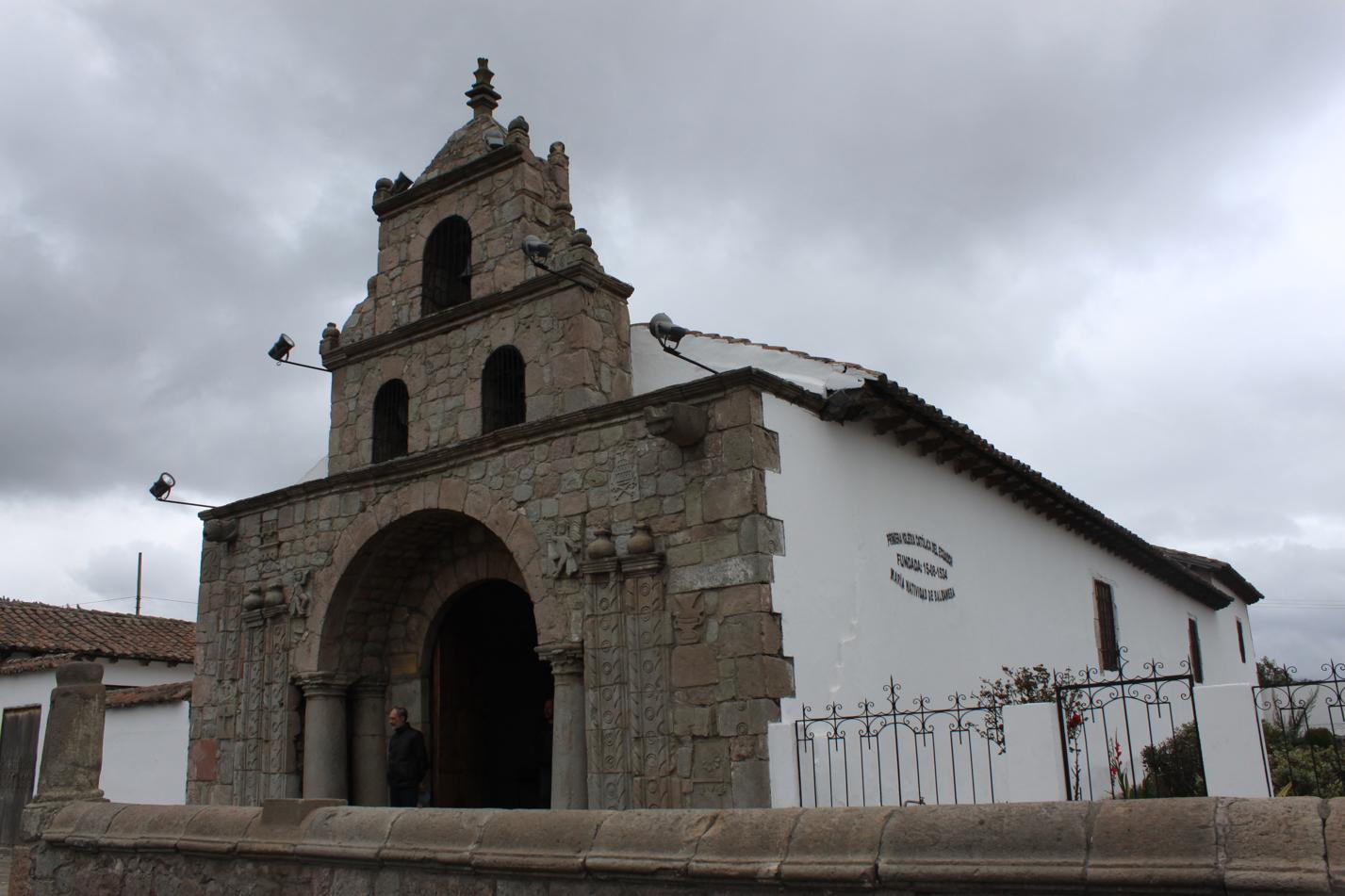 Das ist die älteste Kirche in Ecuador und wurde 1534 erbaut.