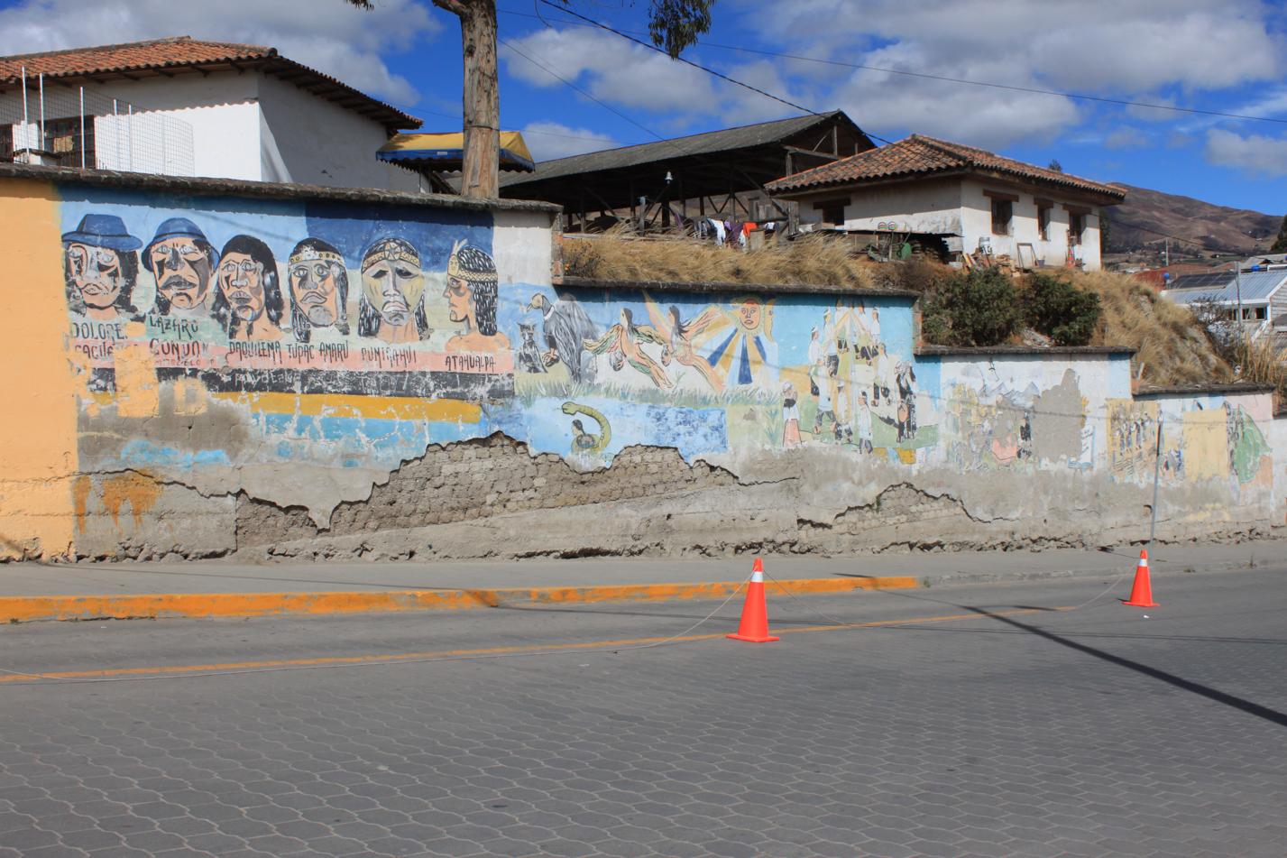Straßenmalerei in Cañar