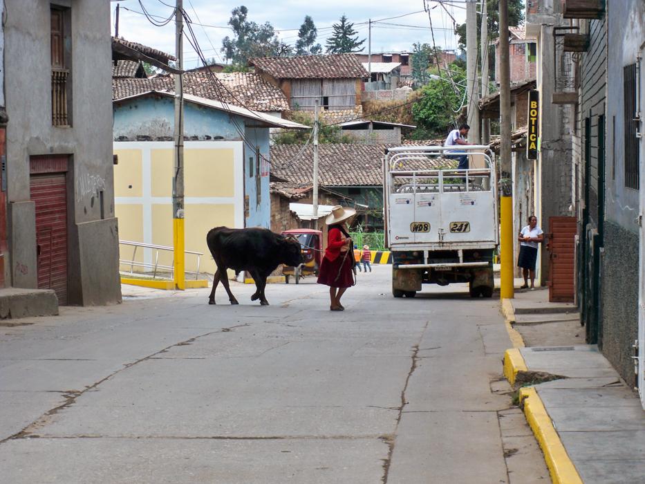 Spaziergang durch Cajabamba.