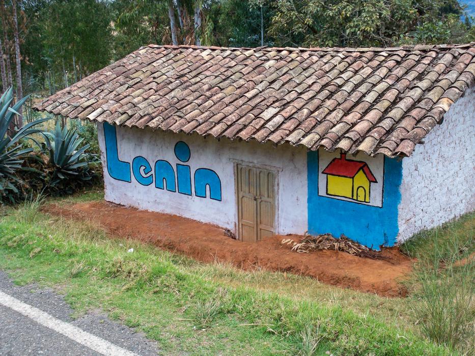 Der Häuslebauen Lenin stellt sich auch zur Wahl.
