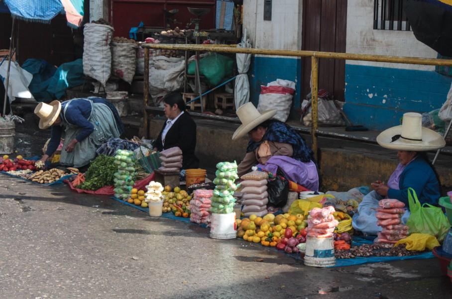 Straßenmarkt in Cajamarca.