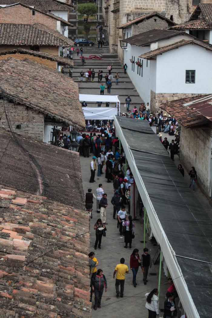 Ausblick von unserem Zimmer auf den Markt.