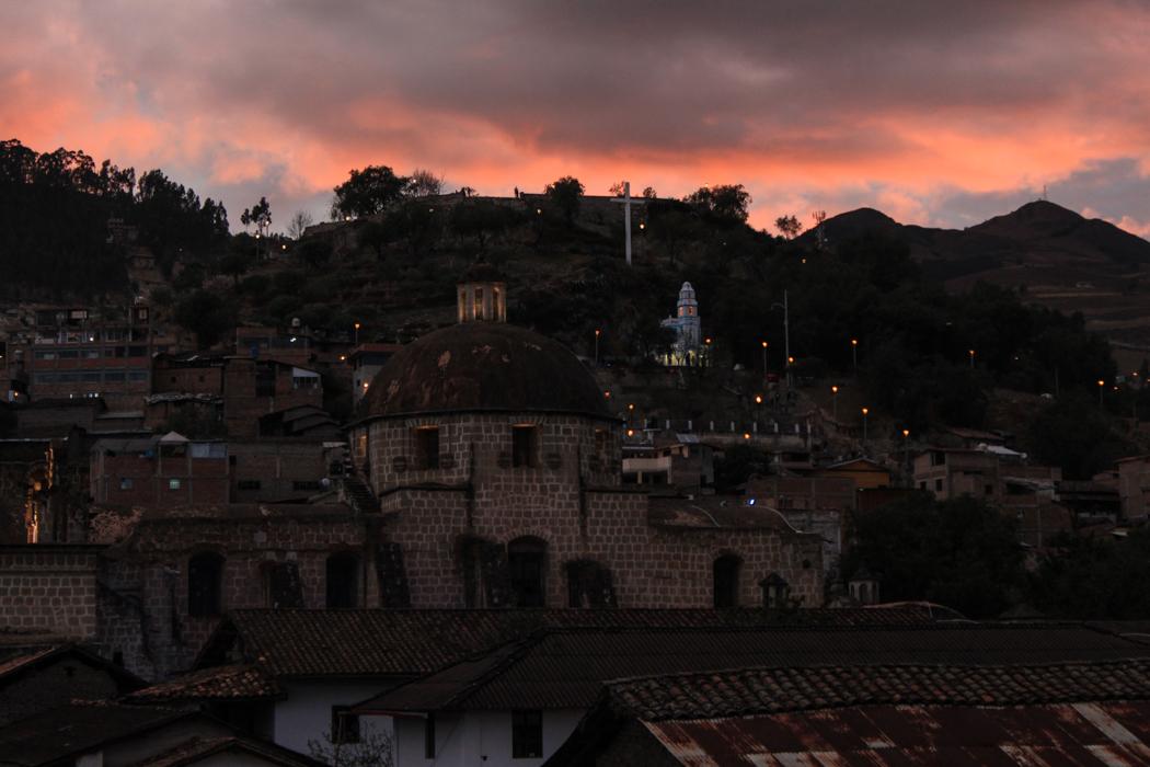 Mit diesem Sonnenuntergang wurden wir von Cajamarca verabschiedet.