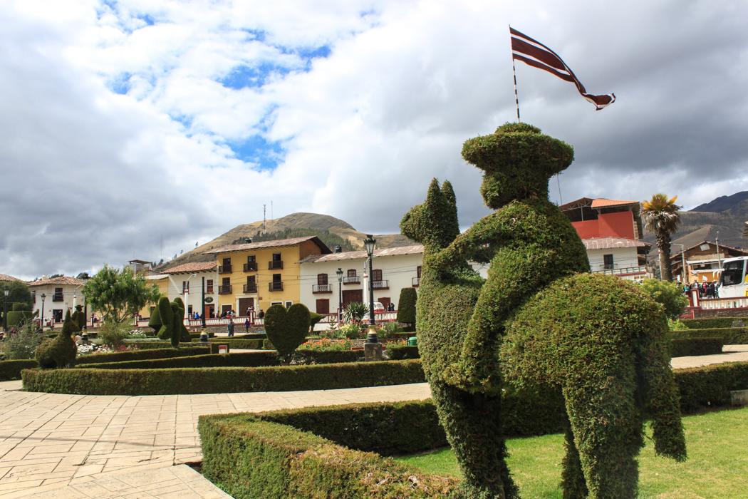 Der Hauptplatz von Huamachuco.
