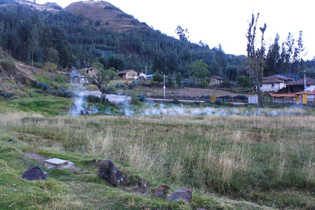 Heiße Quellen von Cachicadan.