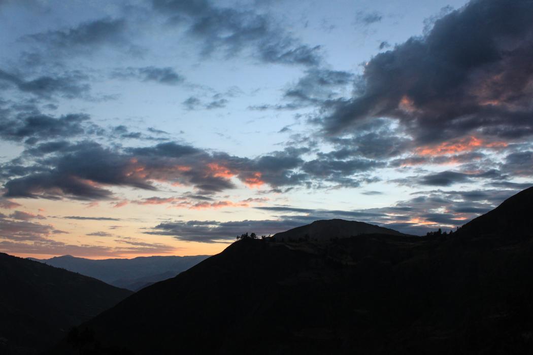 Sonnenuntergang in Huallanca.