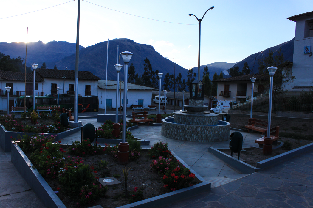Hauptplatz von Huallanca