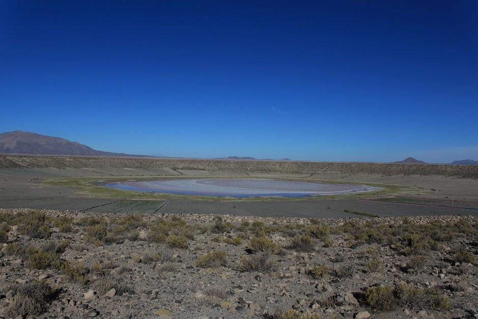 Nachdem wir unser Nachtlager in Tambo Tambillo verlassen haben, gab es die erste Pause an diesem Meteoriten Krater.