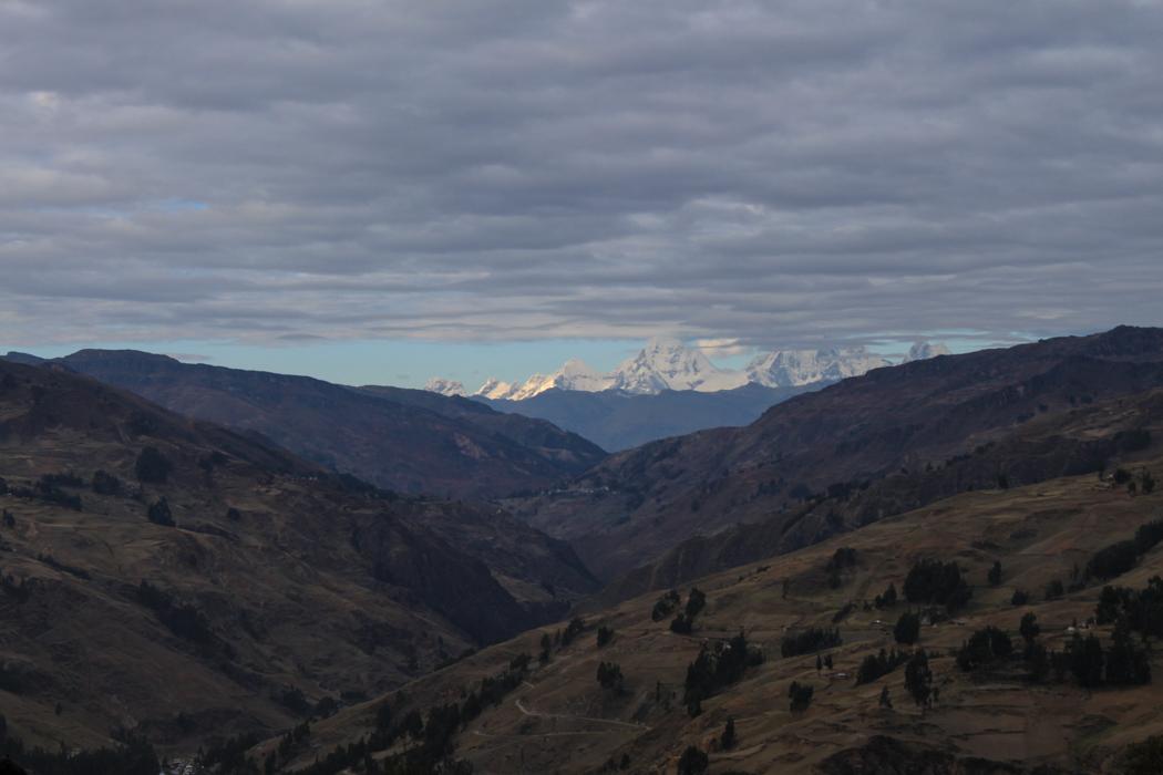 Die letzten Zeichen der Cordillera Blanca am Horizont. Danke für das Erlebnis!