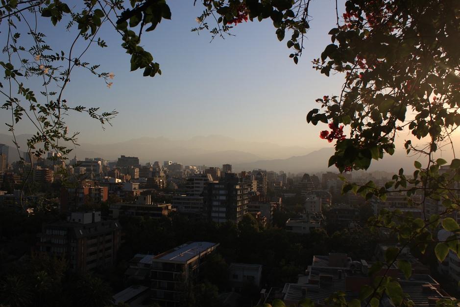 Sonnenuntergang über Santiago 14.02.
