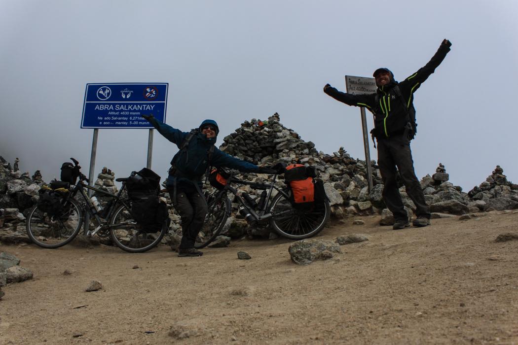 Unser Gipfelbild auf 4.650 Metern über Null!
