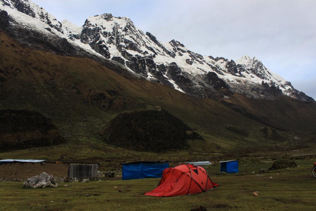 Unser Schlafplatz in Huairaspampa.