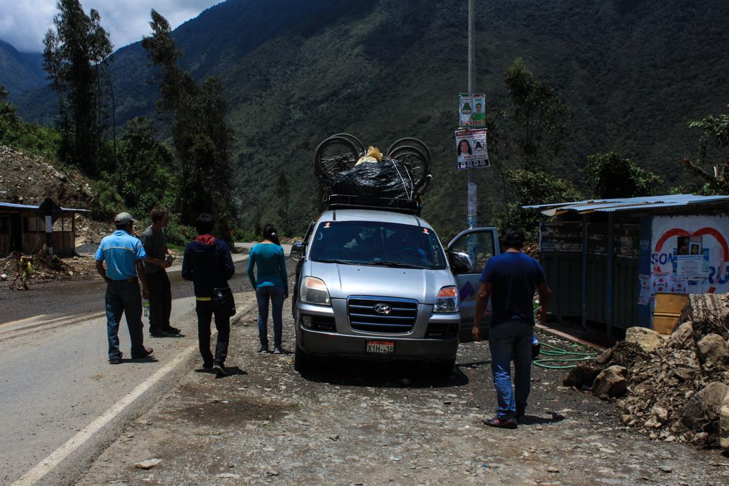 Das Collectivo bepackt mit unseren Rädern.
