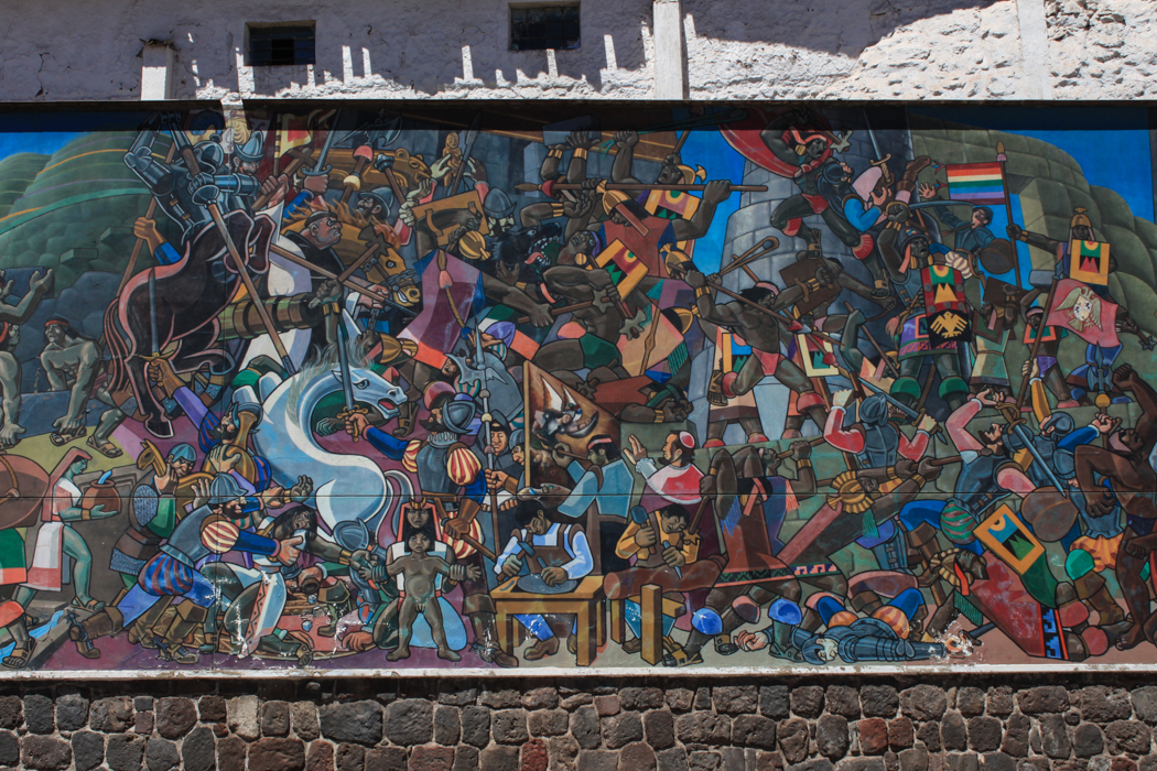 Ein Mural an der Avenida del Sol.