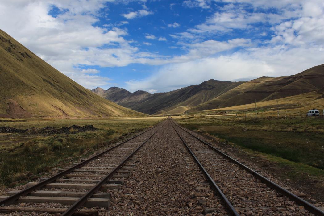 Die Bahnstrecke führt von Cusco bis nach Puno.